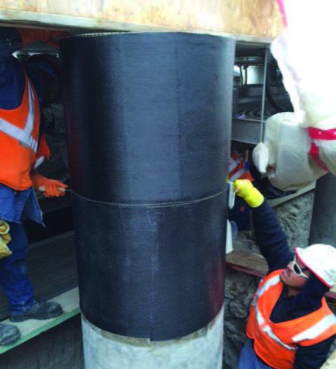 FPR system to strengthen concrete columns