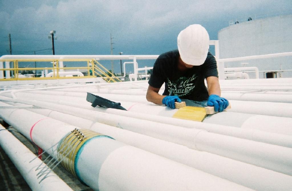 Technician aligns SnapWrap coils prior to tightening