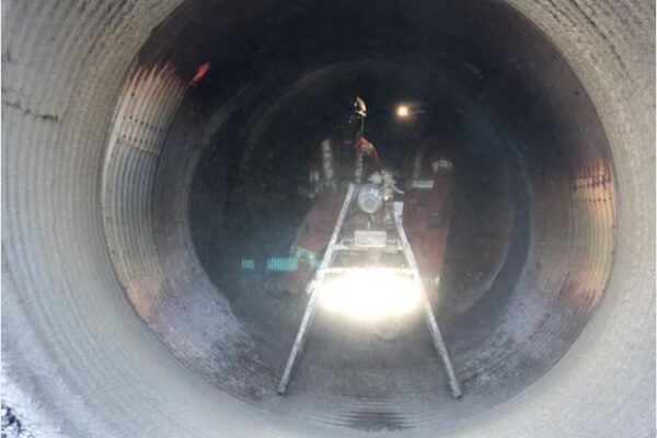 GeoSpray rehabilitates damaged culvert
