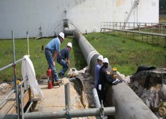80-42 inch Suction Line Repair NDT Inspection