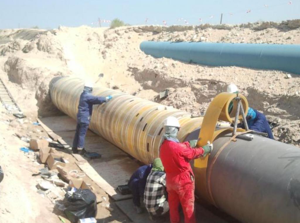 Clock Spring Pipeline Repair Installation Process