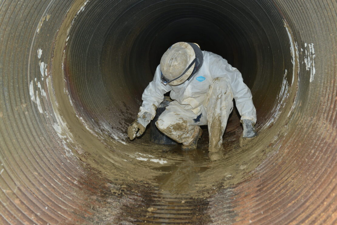 GeoPlug being installed