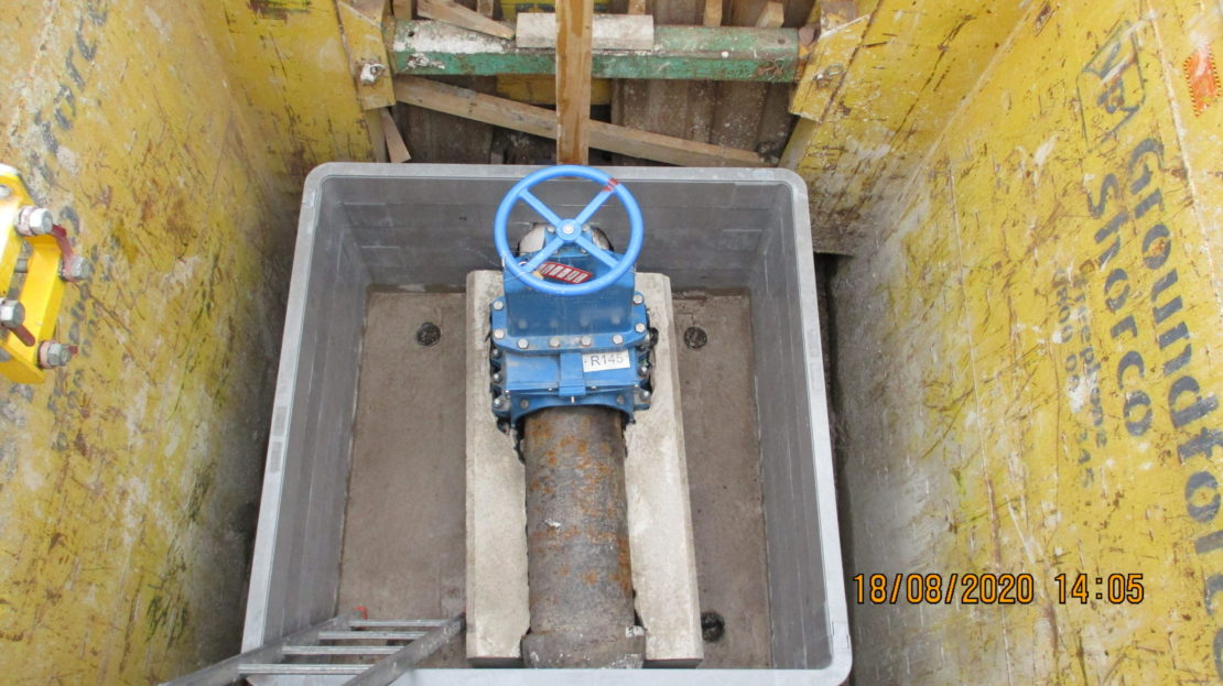 EZ Valve in place at Sellafield