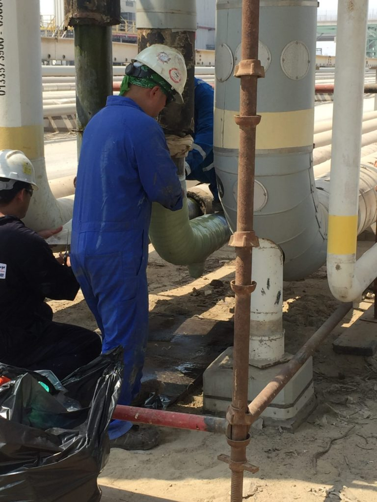A team of 8 technicians carried out the Contour installation, applying in 45.6 meters (149.6 feet) of Contour reinforcement over the course of 3 weeks.