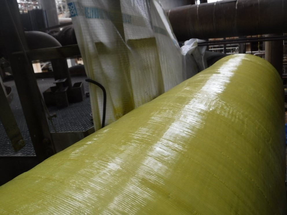 ThermoWrap Inspectable is a custom engineered repair system that uses a fiberglass, composite-reinforced coating to deliver high strength characteristics.