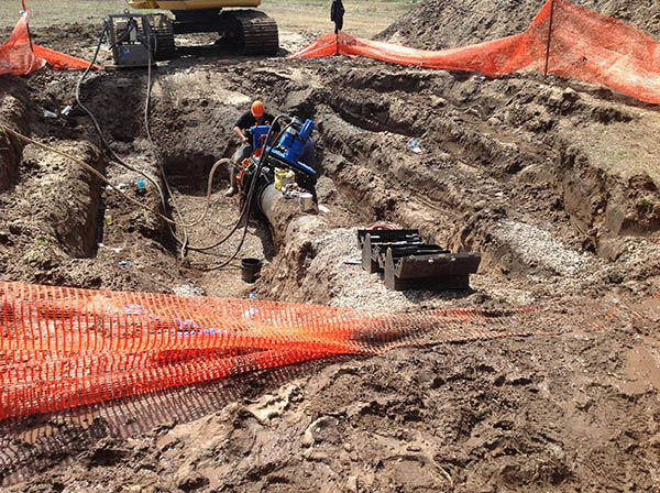 AVT EZ Valves were installed on three ductile iron pipe municipal water mains.