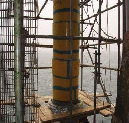 Clock Spring Repairs Risers on Offshore Platform