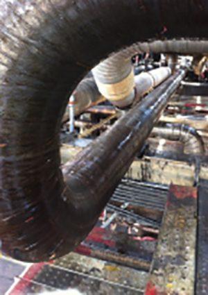 Diamondwrap Naptha Line Internal Corrosion Repair in Venezuela